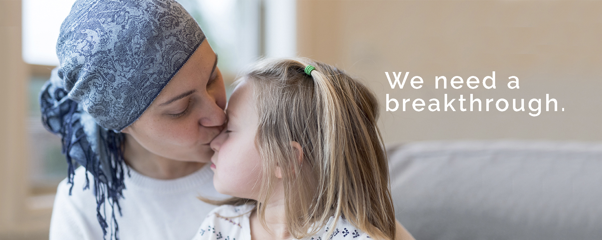 mom battling breast cancer with child